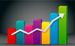 Colorful Bar Graph Royalty Free Stock Photo