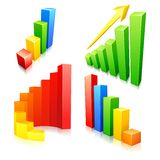 Colorful Bar Graph. Vector illustration of collection of colorful bar graph Royalty Free Stock Image