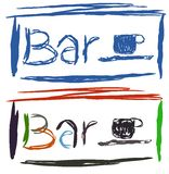 Colorful bar label isolated Royalty Free Stock Images