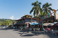 Colorful bar and restaurante in Puerto Viejo, Costa Rica Royalty Free Stock Photography