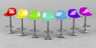 Stools in bar stock illustration. Image of metal, line - 69976880