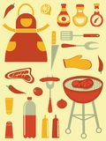 Barbecue collection Royalty Free Stock Photography