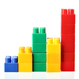 Colorful barchart. Isolated over the white background Stock Photography