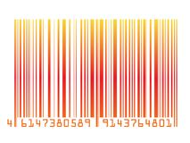 Colorful barcode Stock Images