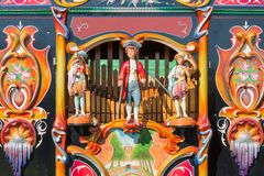 Colorful barrel organ or street organ Royalty Free Stock Images