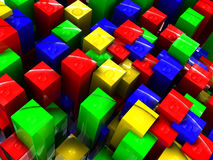 Colorful bars background. Abstract 3d illustration of colorful bars background Royalty Free Stock Photography