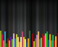 Colorful bars on black background, abstract backdrop Stock Images