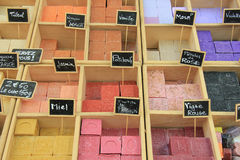Colorful bars of soap Stock Image