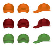 Colorful baseball caps Royalty Free Stock Photo