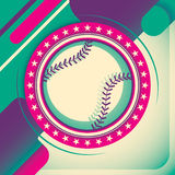 Colorful baseball poster. Stock Images