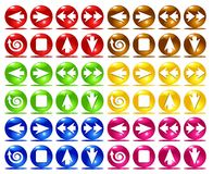 Colorful basic web icons. (vector illustration Royalty Free Stock Images