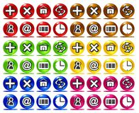 Colorful basic web icons Royalty Free Stock Photography