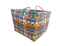 Colorful basket. A colourful basket with clipping path isolated on a white background Royalty Free Stock Photography