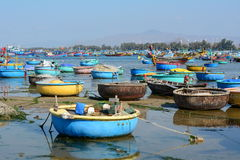 Colorful basket boats Royalty Free Stock Image
