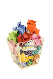 Colorful Basket of Trash Royalty Free Stock Photo