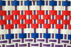 Colorful basket weave pattern royalty free stock photos