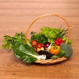 Colorful basket Stock Photography