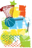 Colorful basketball Stock Photography