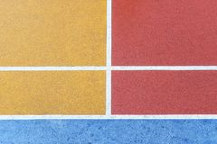 Colorful basketball court at Choi Hung Estate Stock Photography