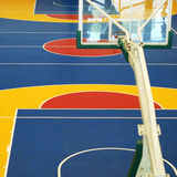 Colorful basketball court. In gymnasium Stock Images