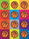 Colorful Basketball Icons Background Illustration Royalty Free Stock Photos