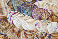 Colorful Baskets. Baskets on a Craft Market royalty free stock photo