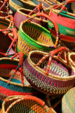 Colorful baskets Stock Photography