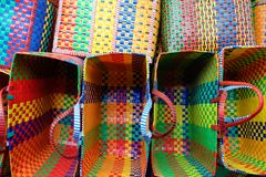 Colorful baskets Stock Image