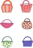 Colorful baskets Royalty Free Stock Photos