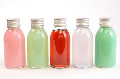 Colorful bath additives Stock Photos