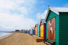 Colorful bath houses Stock Photos