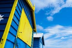 Colorful bath houses stock image