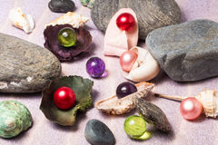 Colorful bath pearls Stock Image