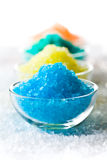 Colorful bath salt Stock Images