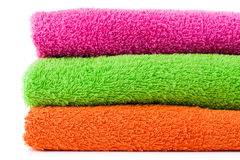 Colorful bath towels Royalty Free Stock Images