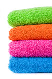 Colorful bath towels Stock Photo