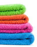Colorful bath towels Stock Photos