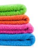 Colorful bath towels Stock Photos