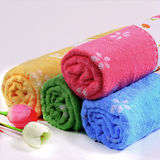 Colorful bath towels Royalty Free Stock Photo
