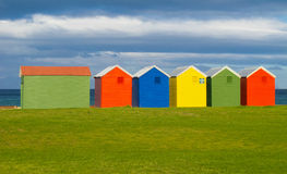 Colorful bathing huts, Cape Town Stock Photography