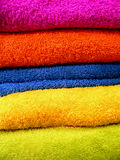 Colorful bathing towels Royalty Free Stock Photo