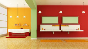 Colorful bathroom Royalty Free Stock Photography
