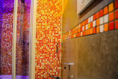 Colorful bathroom with mosaic Stock Photos