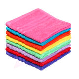 Colorful Bathroom Towels isolated on white Royalty Free Stock Image
