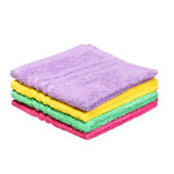 Colorful Bathroom Towels isolated Stock Image