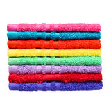 Colorful Bathroom Towels isolated Royalty Free Stock Photo