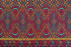 Colorful batik cloth fabric background Royalty Free Stock Photo