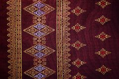 Colorful batik cloth fabric background Stock Photography