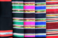 Colorful batik cloth fabric background Stock Photo