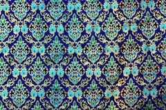 Colorful batik cloth fabric background royalty free stock images